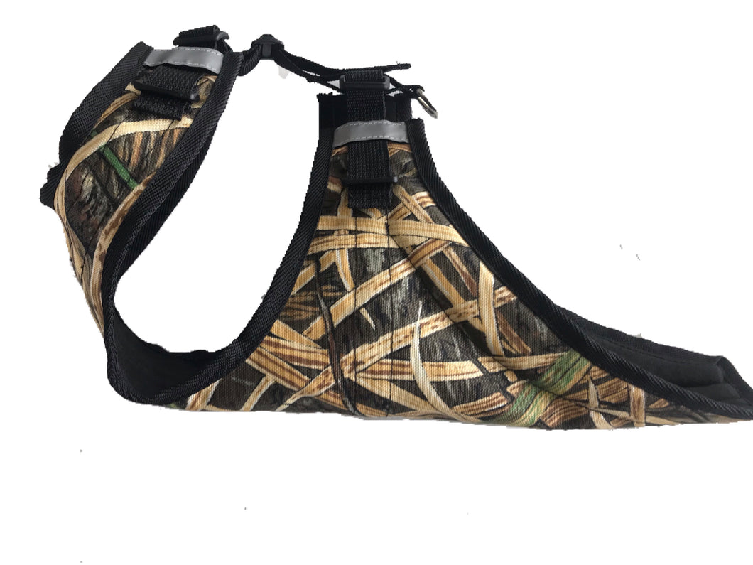 Dog chest and underbelly protection a harness, dog hunting vest and protection from underbrush
