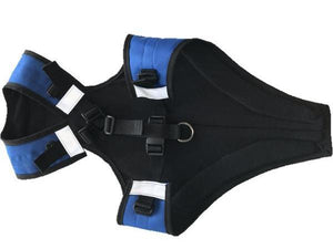 Dog chest and underbelly protector harness with insulated lining. Dog protection from snow and mud.