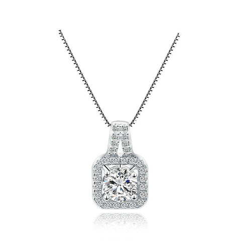 925 Sterling Silver CZ Diamond Luxury Pendant