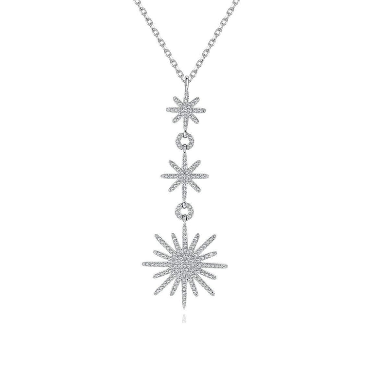 925 Sterling Silver CZ Diamond Starfish Pendant