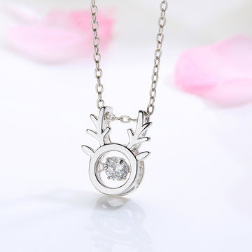 925 Sterling Silver With Cubic Zirconia,  Fawn  Pendant