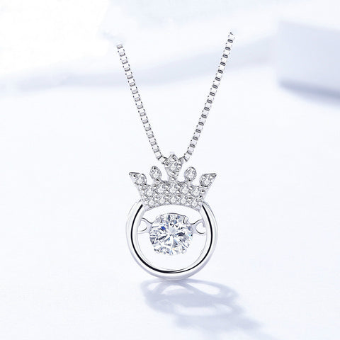 925 Sterling Silver With Cubic Zirconia,   Dancing Silver Pendant