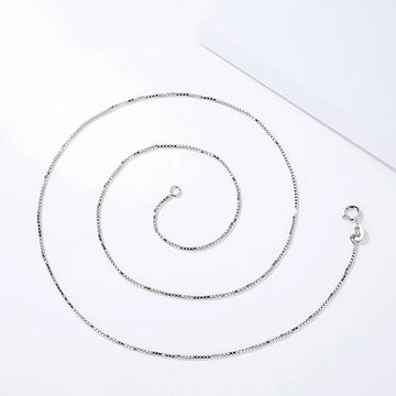 925 Sterling Silver Chain, Box Chain