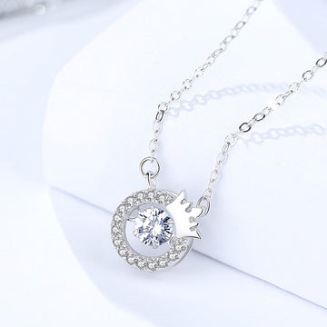 925 Sterling Silver With Cubic Zirconia,  Elegant  Pendant
