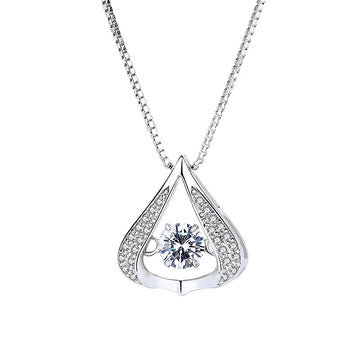 925 Sterling Silver CZ Diamond Dancing Pendant