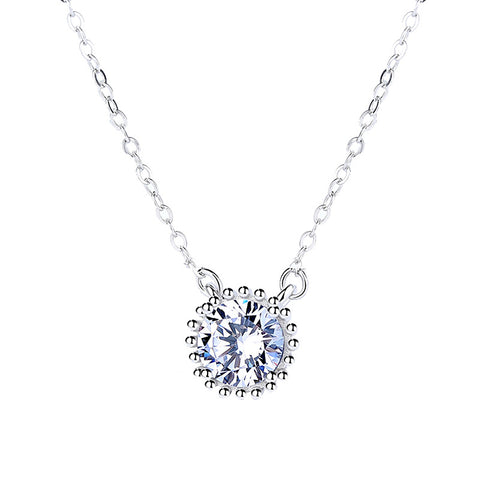 925 Sterling Silver With Cubic Zirconia,  Big CZ Diamond  Pendant
