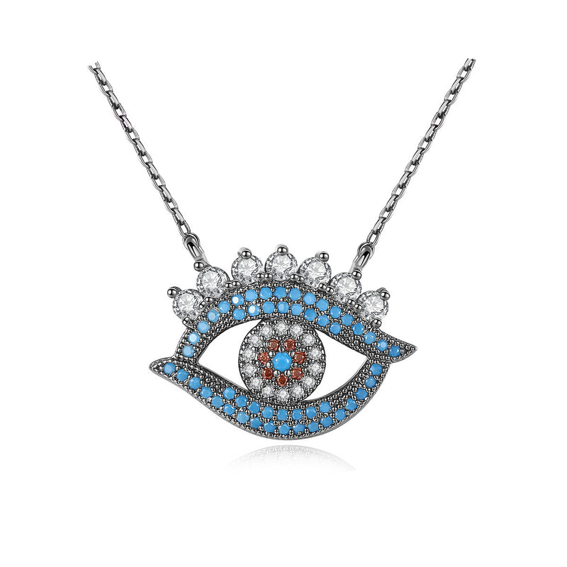 925 Sterling Silver Evil Eye Pendant