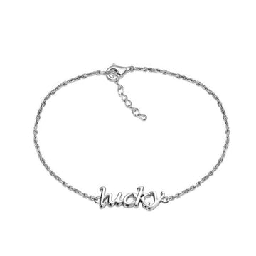 925 Sterling Silver Bracelet with CZ Diamond, Lucky Bracelet