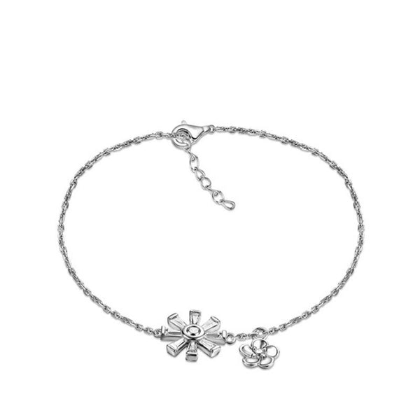925 Sterling Silver  Bracelet with CZ Diamond, Gold Plated Fashion Jewelry