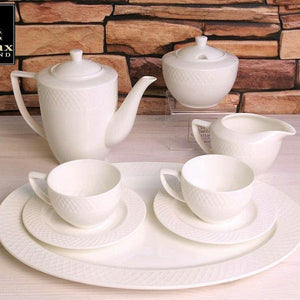 FINE PORCELAIN SUGAR BOWL & CREAMER SET: SUGAR BOWL 11 OZ | 340 ML  & CREAMER WL-880112/2C