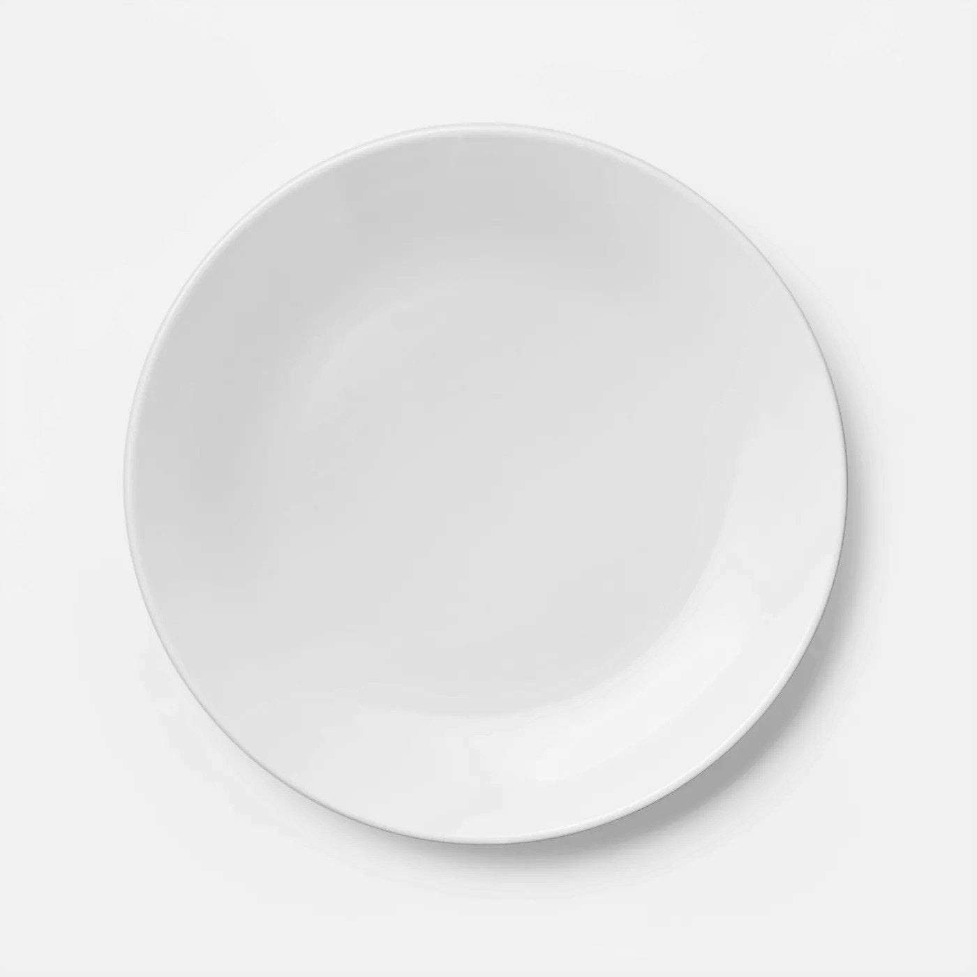 "[ Set Of 36 ] PLATE ROUND 8"" COUPE VENEZIA BRIGHT WHITE"