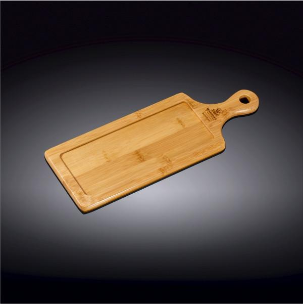 "NATURAL BAMBOO TRAY 11.75"" X 4.5"" 