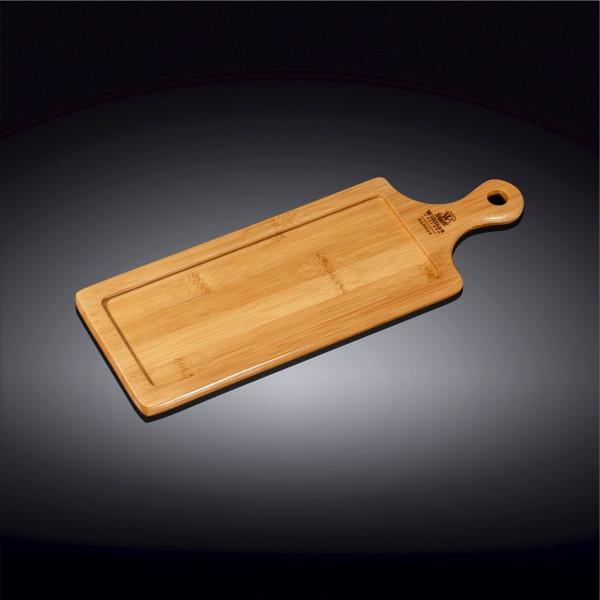 "NATURAL BAMBOO TRAY 13.5"" X 4.75"" 