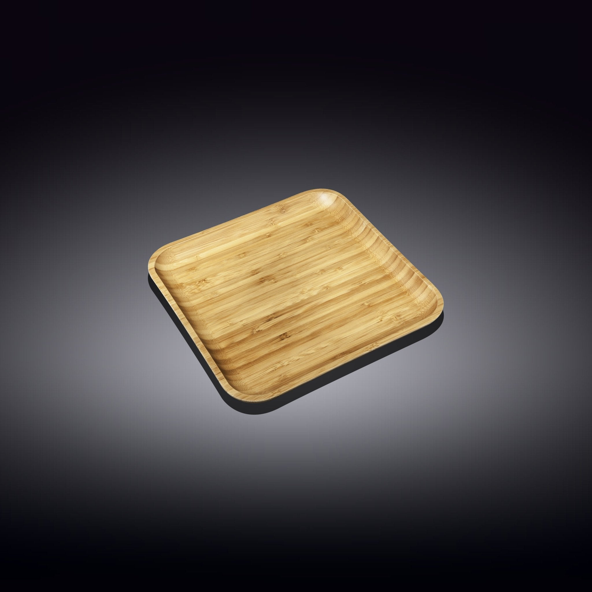 "NATURAL BAMBOO PLATE 4""x 4"" 