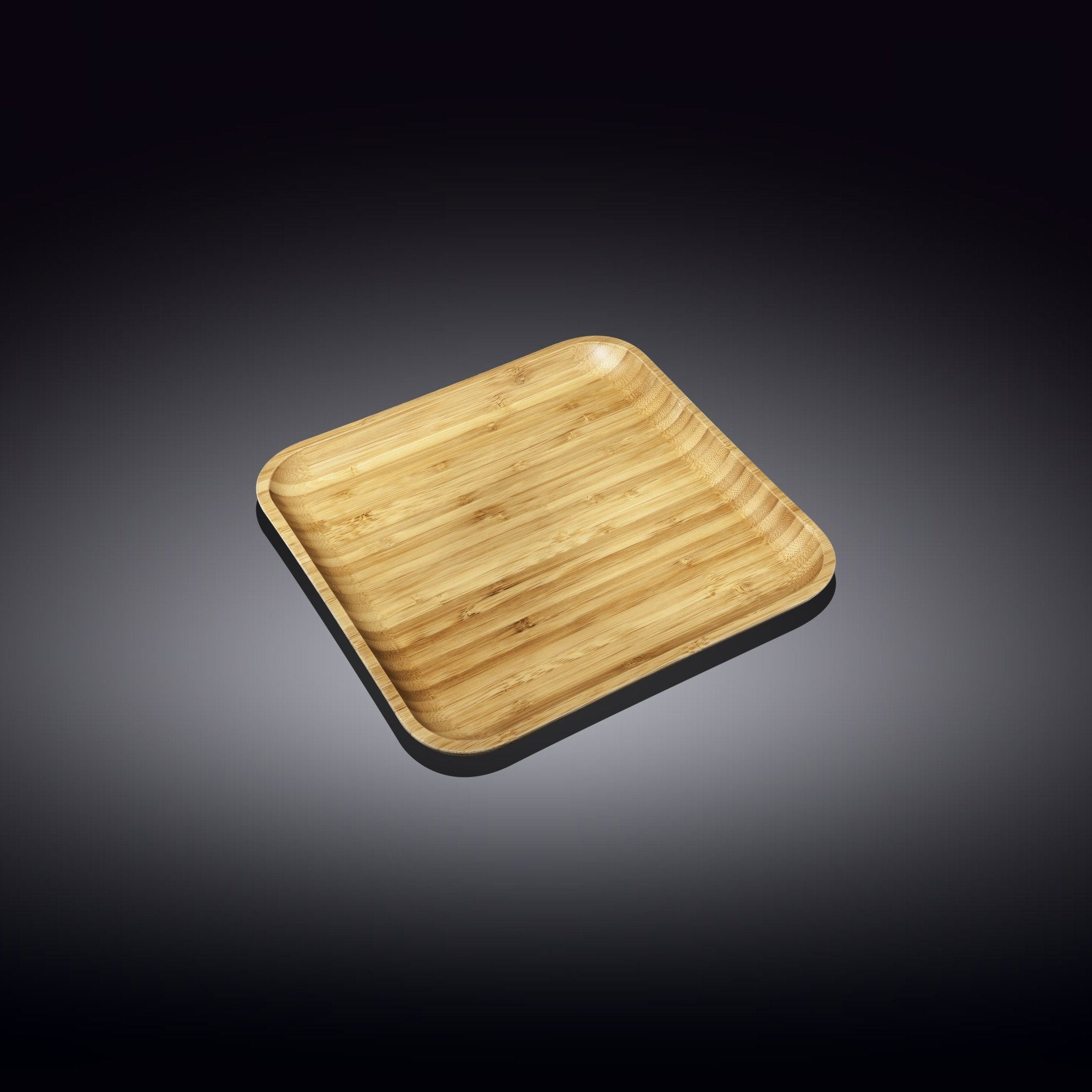 "NATURAL BAMBOO PLATE 5"" X 5"" 