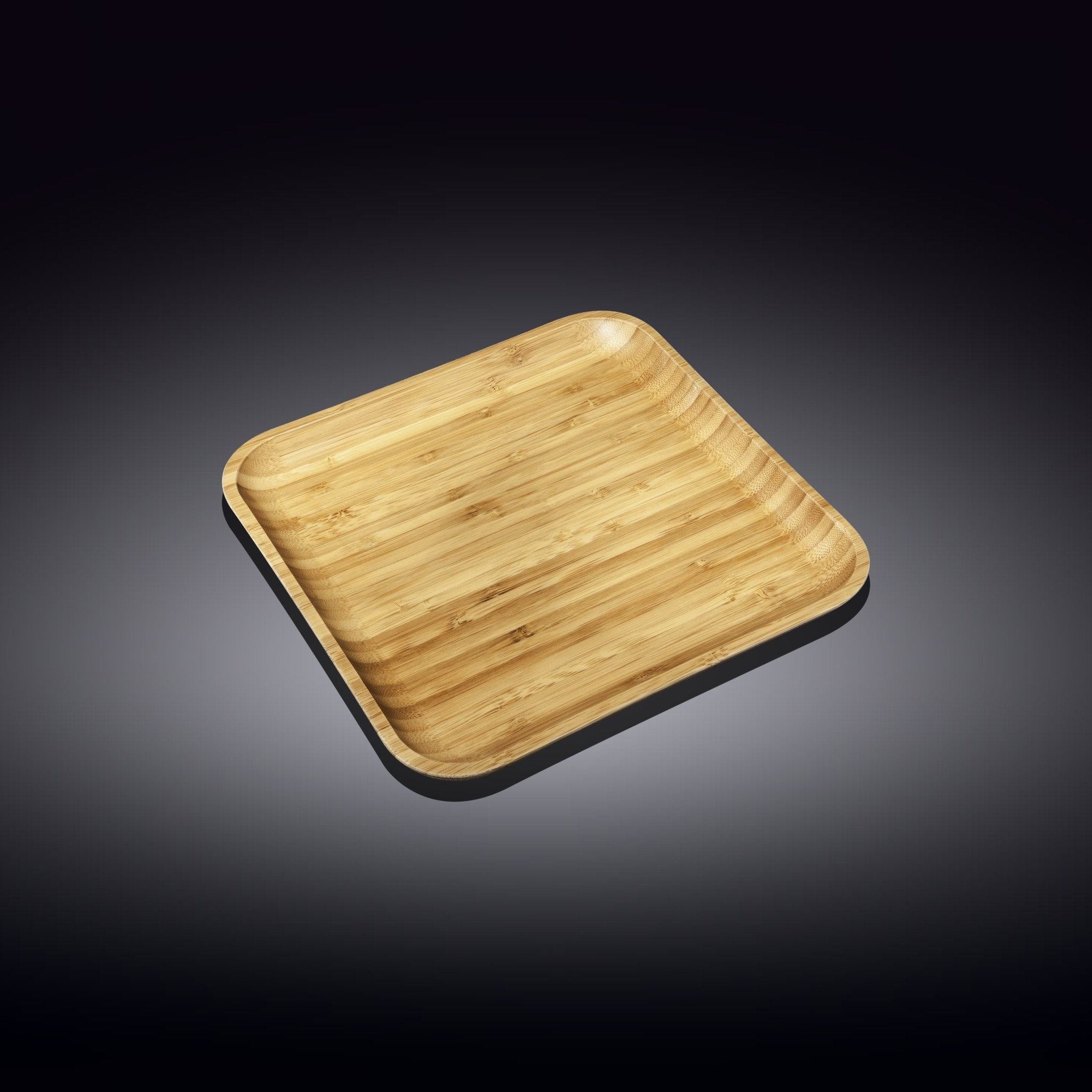 "NATURAL BAMBOO PLATE 7"" X 7"" 