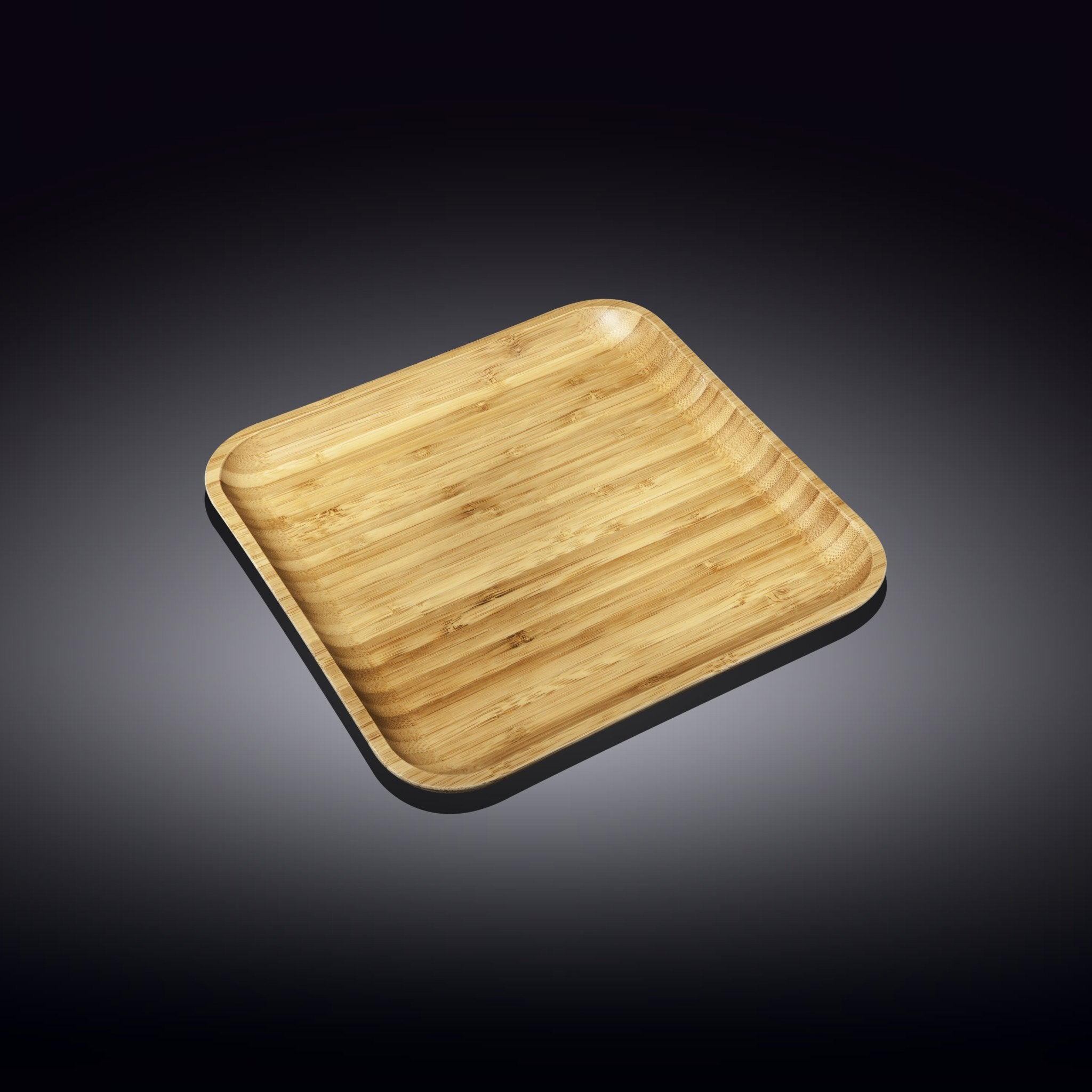 "NATURAL BAMBOO PLATE 8"" X 8"" 