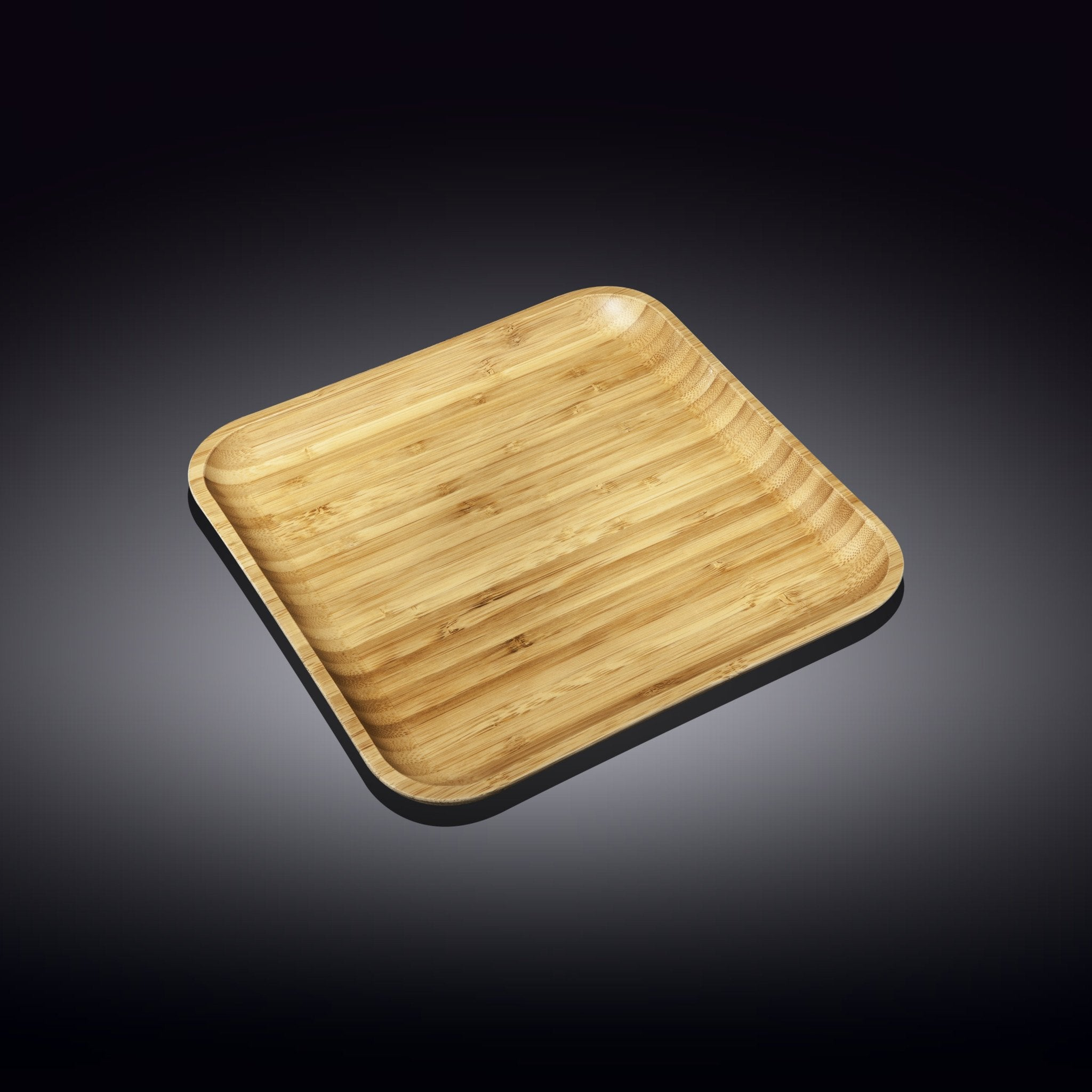 "NATURAL BAMBOO PLATE 9"" X 9"" 