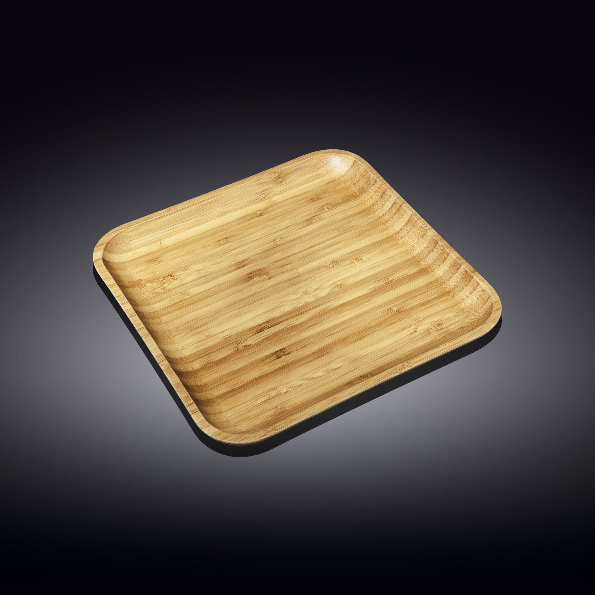 "NATURAL BAMBOO PLATE 10"" X 10"" 