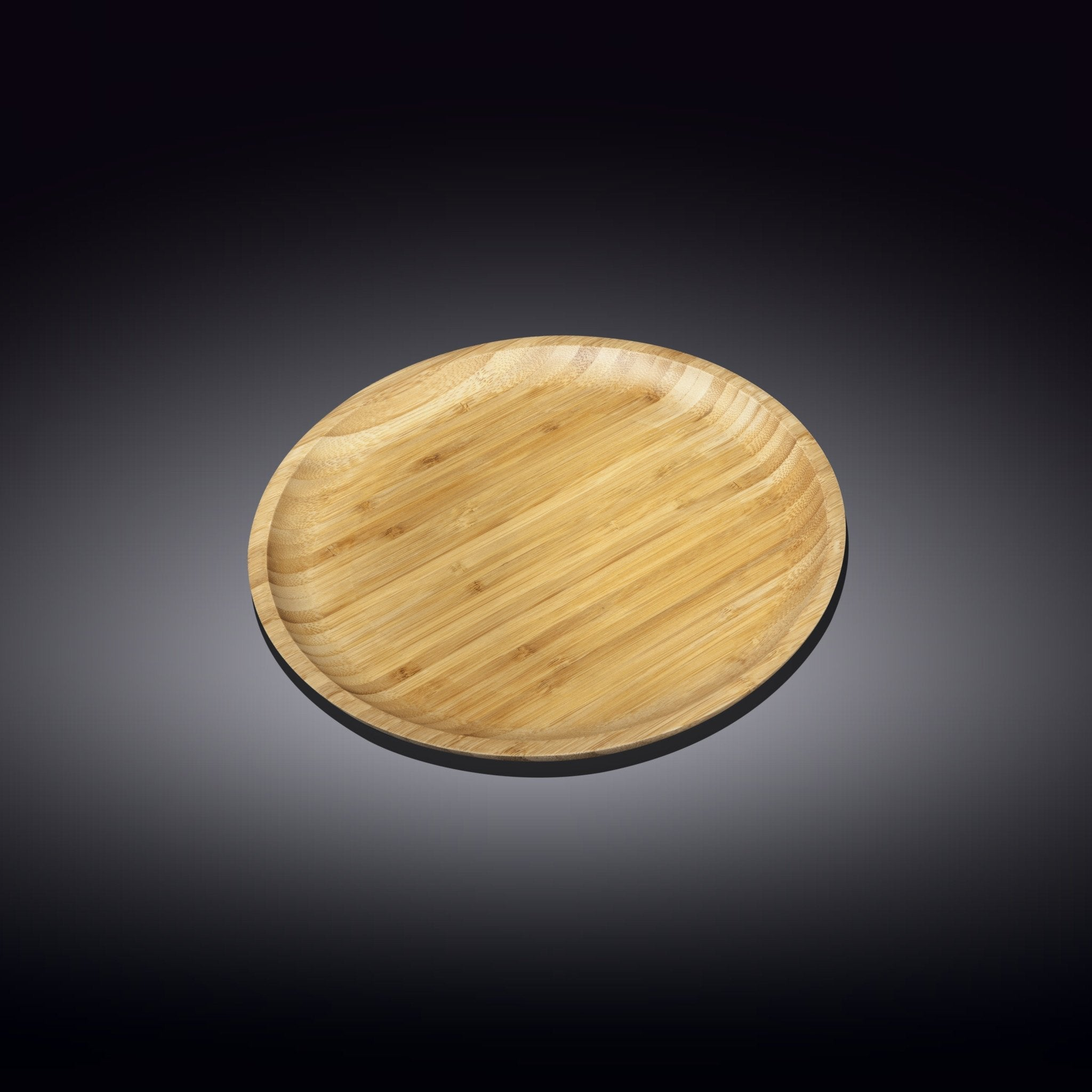 NATURAL BAMBOO PLATE 6"