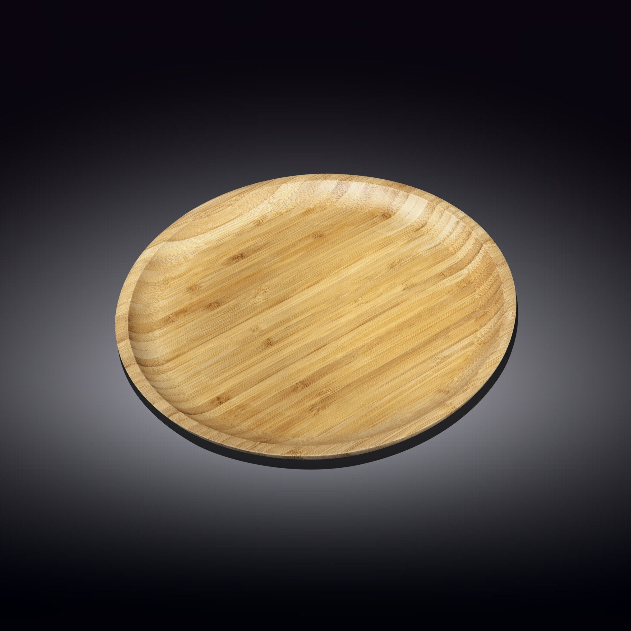 NATURAL BAMBOO PLATE 9"