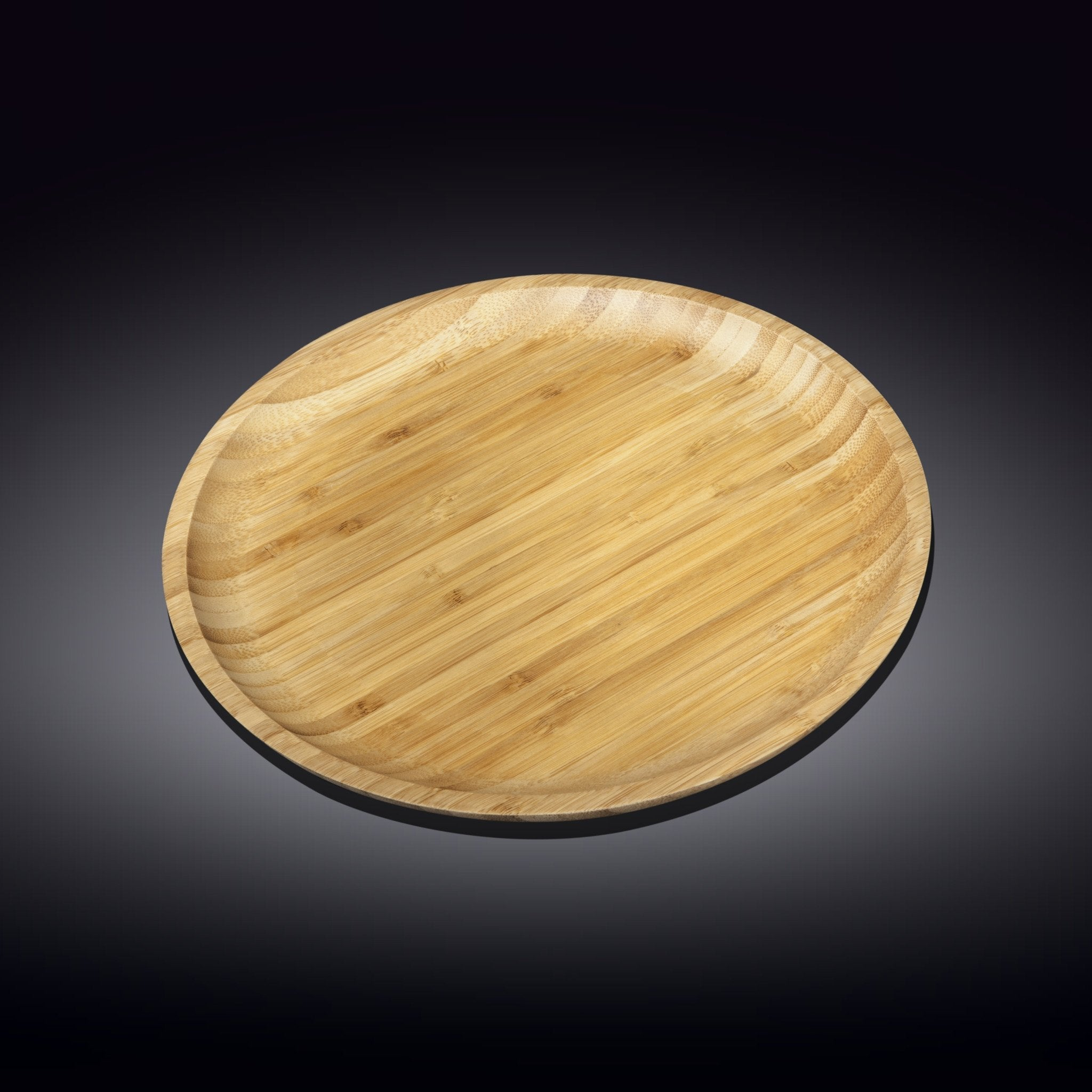 NATURAL BAMBOO PLATE 11"