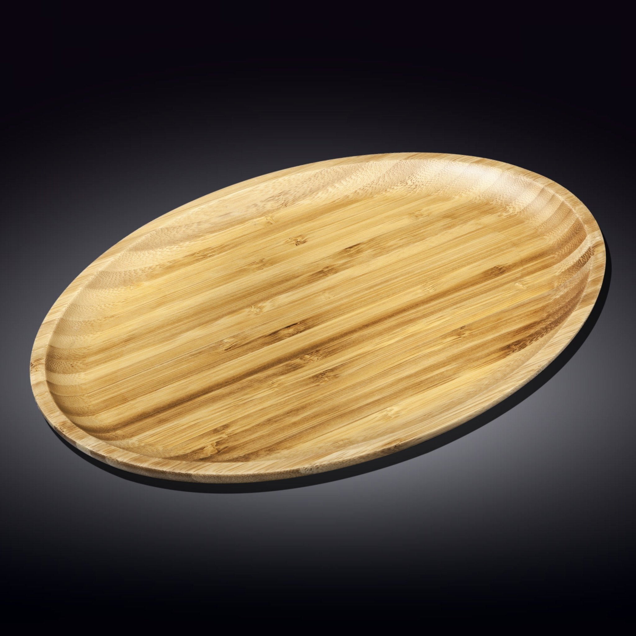 "NATURAL BAMBOO OVAL PLATTER 18"" X 13.25"" 