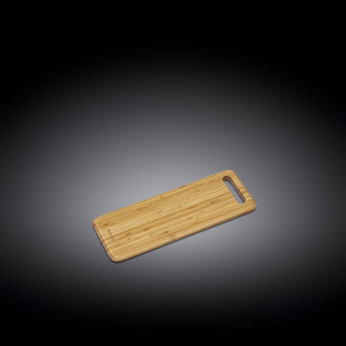 "NATURAL BAMBOO LONG SERVING BOARD 15.8"" X 5.9"" 