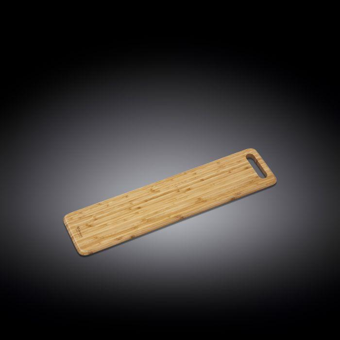 "NATURAL BAMBOO LONG SERVING BOARD 23.6"" X 5.9"" 