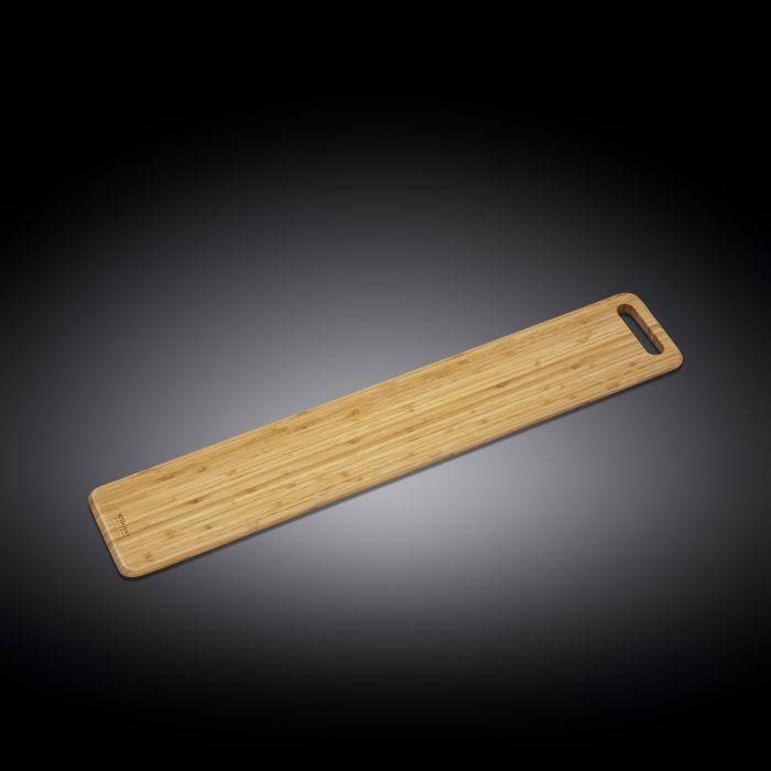 "NATURAL BAMBOO LONG SERVING BOARD 31.5"" X 5.9"" 