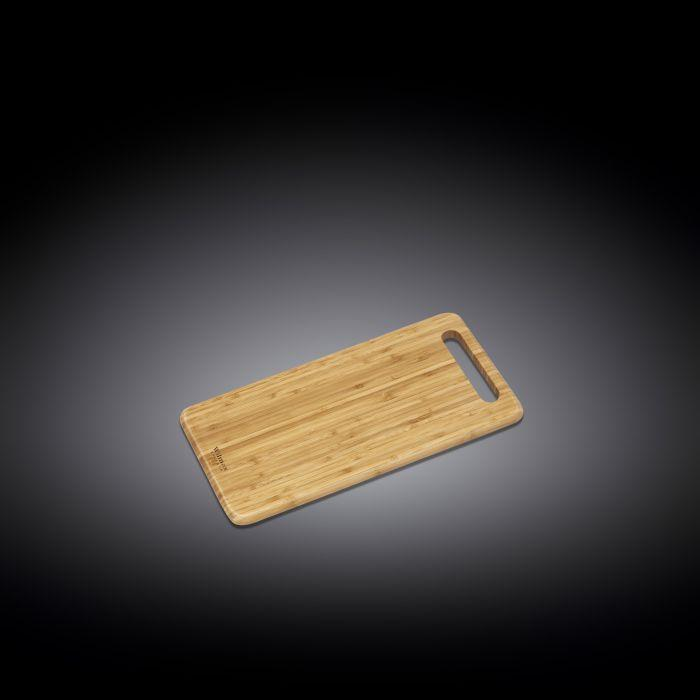 "NATURAL BAMBOO LONG SERVING BOARD 15.8"" X 7.9"" 