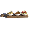 Bamboo and Fine Porcelain set for single serve soup or cereal or your favorite dessert WL-555041