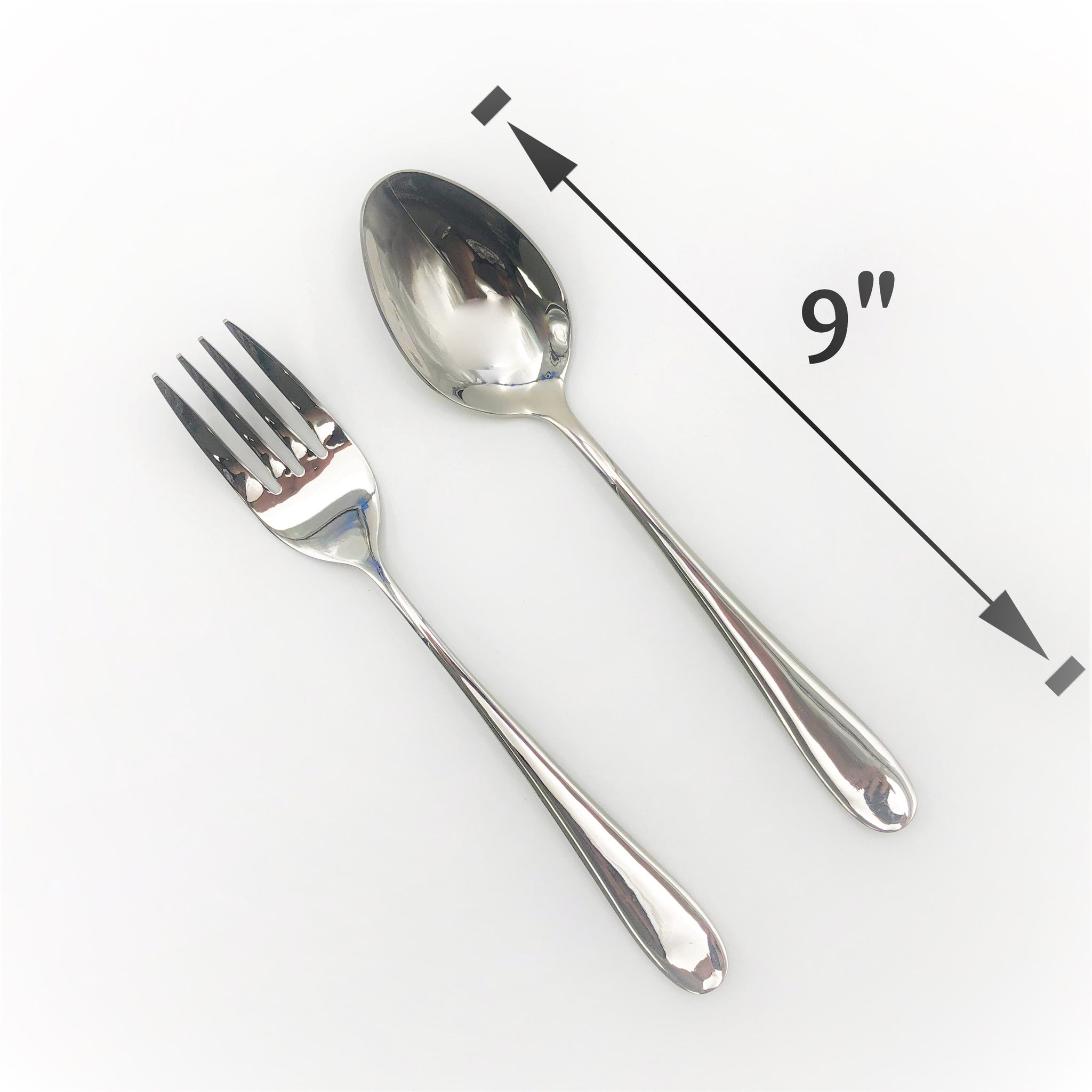 Stainless Steel Serving Fork And Knife Set Of 2 Pieces Great For Entertaining WL-555048