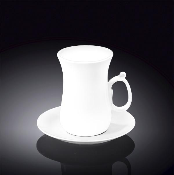 FINE PORCELAIN 4 OZ | 120 ML TEA CUP & SAUCER WL-993087/AB