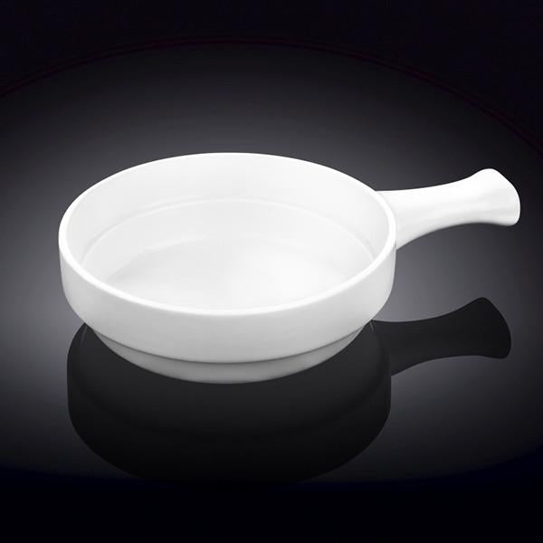 FINE PORCELAIN BAKING DISH WITH HANDLE 5"