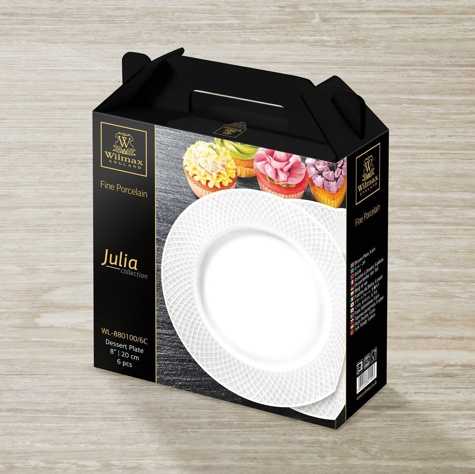 PORCELAIN DESSERT PLATE 8"