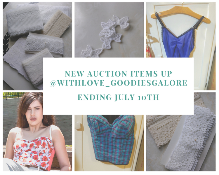 New Supplies and Lingerie Pieces Posted for Auction
