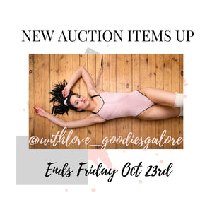 New Lingerie Auction Items Up! Amazing Deals!