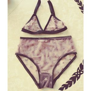 Star Mesh 2 piece lingerie set
