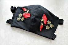 The Moira: Fabulous Fashion Cloth Dust Mask with Floral applique and Adjustable straps