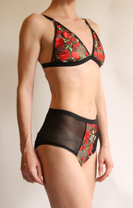 Mercy Embroidered Lace Rose Panty