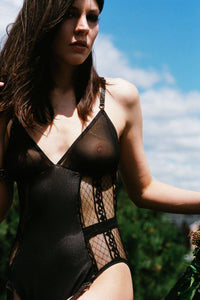 Sheer Lattice Bodysuit