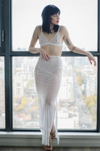 Elegant Sheer Full Length Mesh Skirt