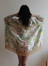 Illustrated Garden Kimono Fashion Wrap