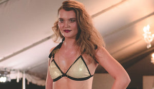 The Cabaret Collection Gold Glitter Bralette