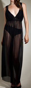 Boho Sheer mesh long Coven Maxi Gown