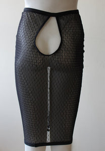 Cavalier sexy lingerie sheer mesh pencil skirt