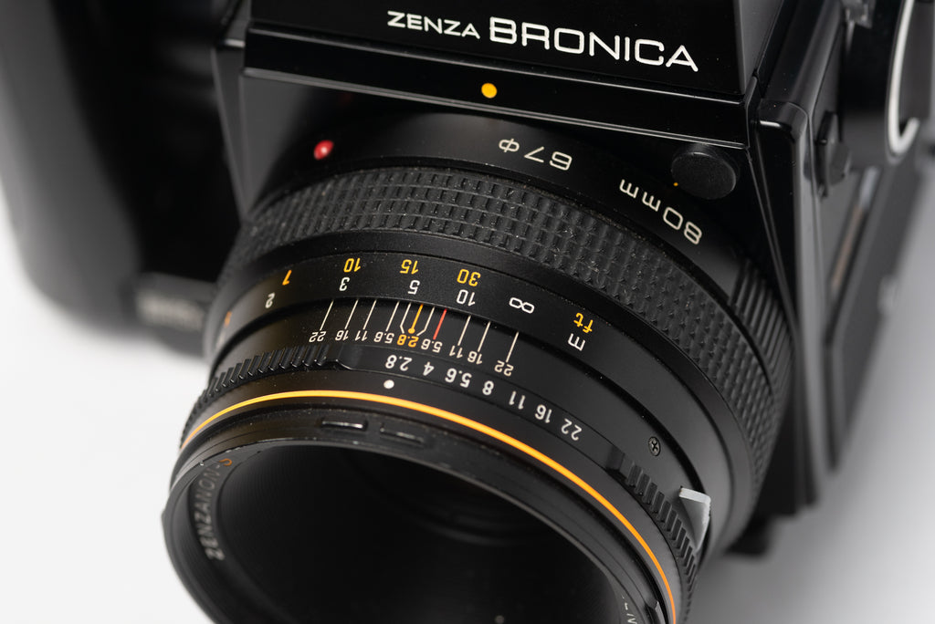 Bronica SQ-A Medium Format Film Camera with 80mm 2.8 Lens, Speed Grip, and Metered Prism Viewfinder