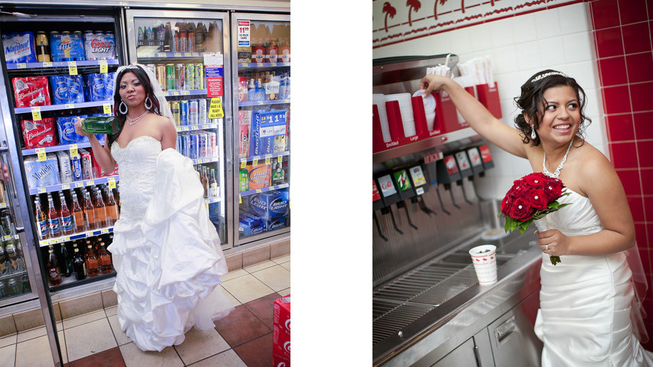 Wedding Photo In n Out Burger