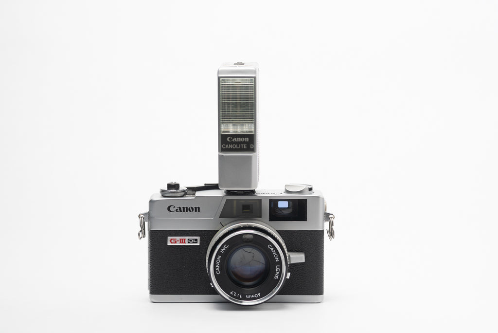 Canon Canonet QL17 G-III Rangefinder Camera with Canolite Flash